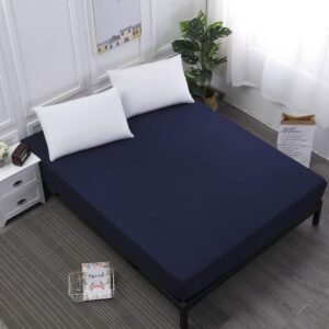 Navy Blue 100% Water Proof Fitted Shee