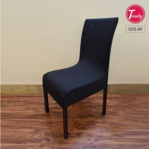 Stretchable Black Chair Cover