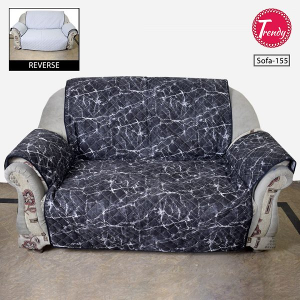 Sofa Cover Quilted Dark Grey