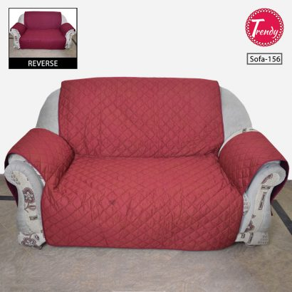 Sofa Cover Quilted Red
