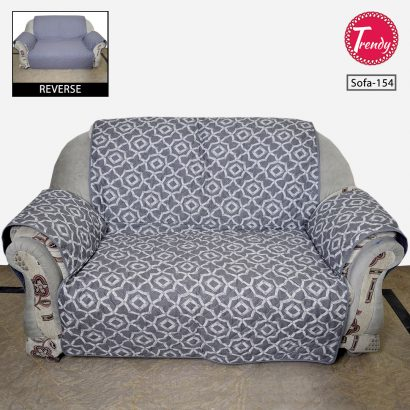 Sofa Cover Quilted Grey