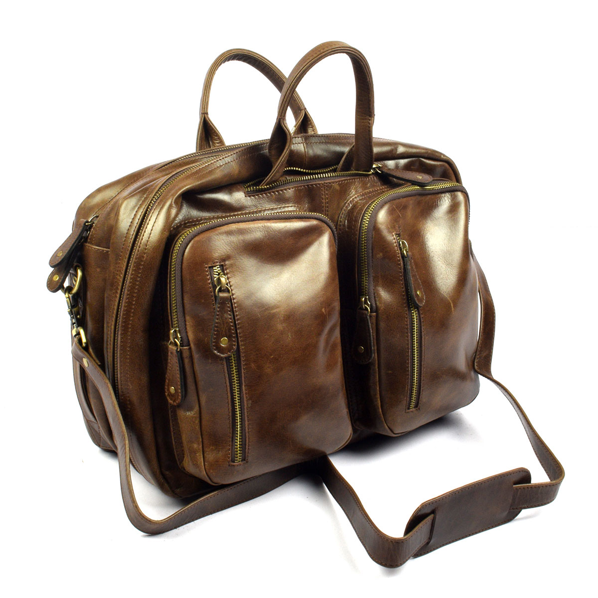 Original Top Quality Leather Bag, Multipurpose Mens Duffel - Trendy Pakistan