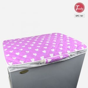 Deep Freezer Cover With Handles Quilted Cotton Red Color