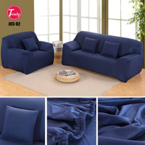 Jersey Sofa Cover Blue