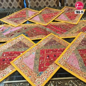 Sindhi Hand Embroidery Runner Set And Place Mat Set TRS-011