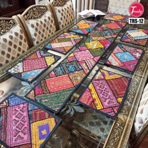 Sindhi Hand Embroidery Runner Set And Place Mat Set TRS-012