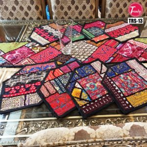 Sindhi Hand Embroidery Runner Set And Place Mat Set TRS-013