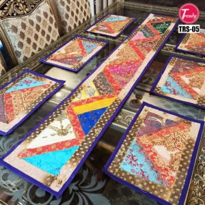 Sindhi Hand Embroidery Runner Set And Place Mat Set TRS-05Sindhi Hand Embroidery Runner Set And Place Mat Set TRS-05