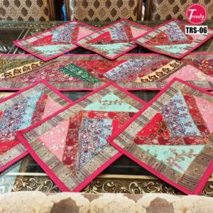 Sindhi Hand Embroidery Runner Set And Place Mat Set TRS-006