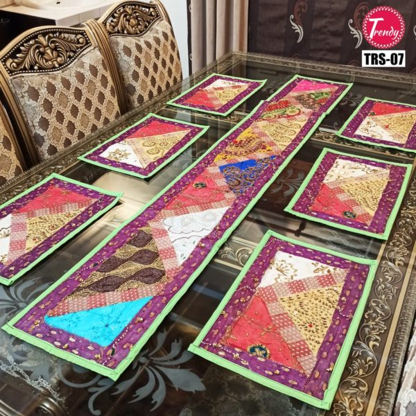 Sindhi Hand Embroidery Runner Set And Place Mat Set TRS-007