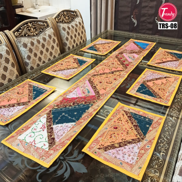 Sindhi Hand Embroidery Runner Set And Place Mat Set TRS-008