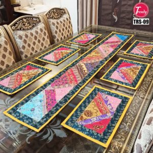 Sindhi Hand Embroidery Runner Set And Place Mat Set TRS-009