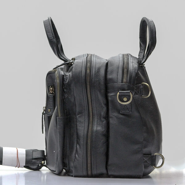 Original Top Quality Leather Bag, Multipurpose Mens Duffel Black
