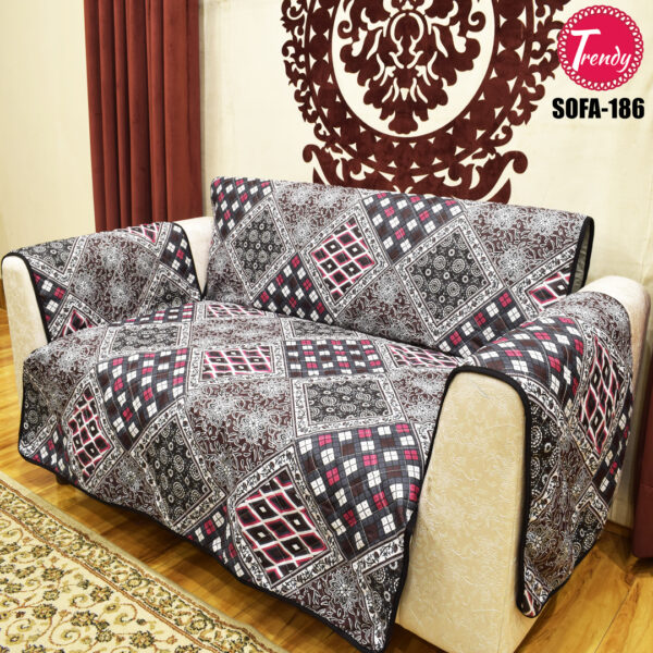 Best Quilted Fabric Sofa-186