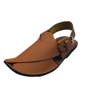 Extra Soft Charsadda Chappal in Brown Color
