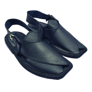 Extra Soft Charsadda Chappal in Black Color