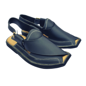 Extra Soft Charsadda Chappal in Dark Blue