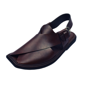 Extra Soft Charsadda Chappal in Dark Red Color