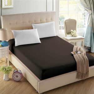 Dark Brown 100% Water Proof Fitted Sheet