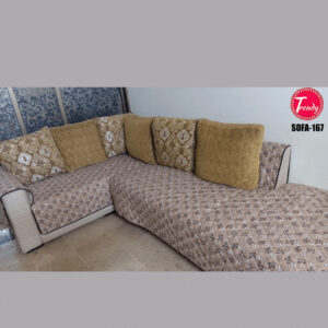 L Shape Sofa Cover Online Reversible Quilted Available in all Shapes