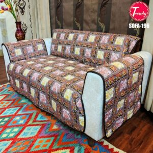 Best Quilted Fabric Sofa-196