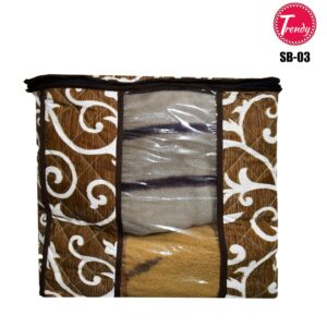 Home Square Storage Box Quilted Fabric 100% Cotton Dual Layer Inside Thick Filling Box SB-03