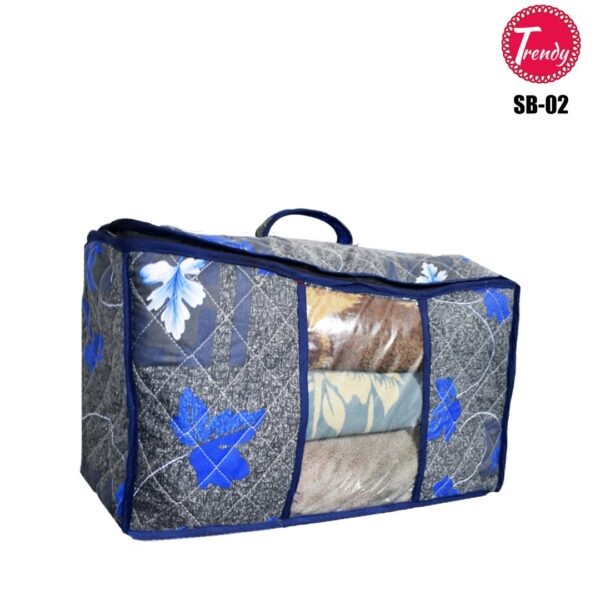Home Square Storage Box Quilted Fabric 100% Cotton Dual Layer Inside Thick Filling Box SB-02