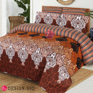 Stylish Floral 100% Cotton Bed Sheet King Size