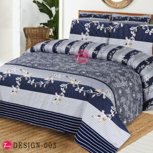 Printed Floral 100% Cotton Bed Sheet King Size