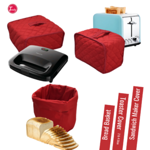 Toaster Cover Sandwich Maker Cover Bread Basket Pack of 3
